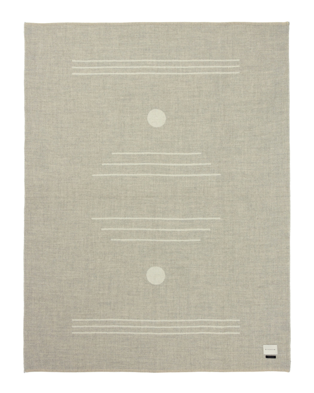 Harvest Moon Reversible Throw - Light Heather/Ivory