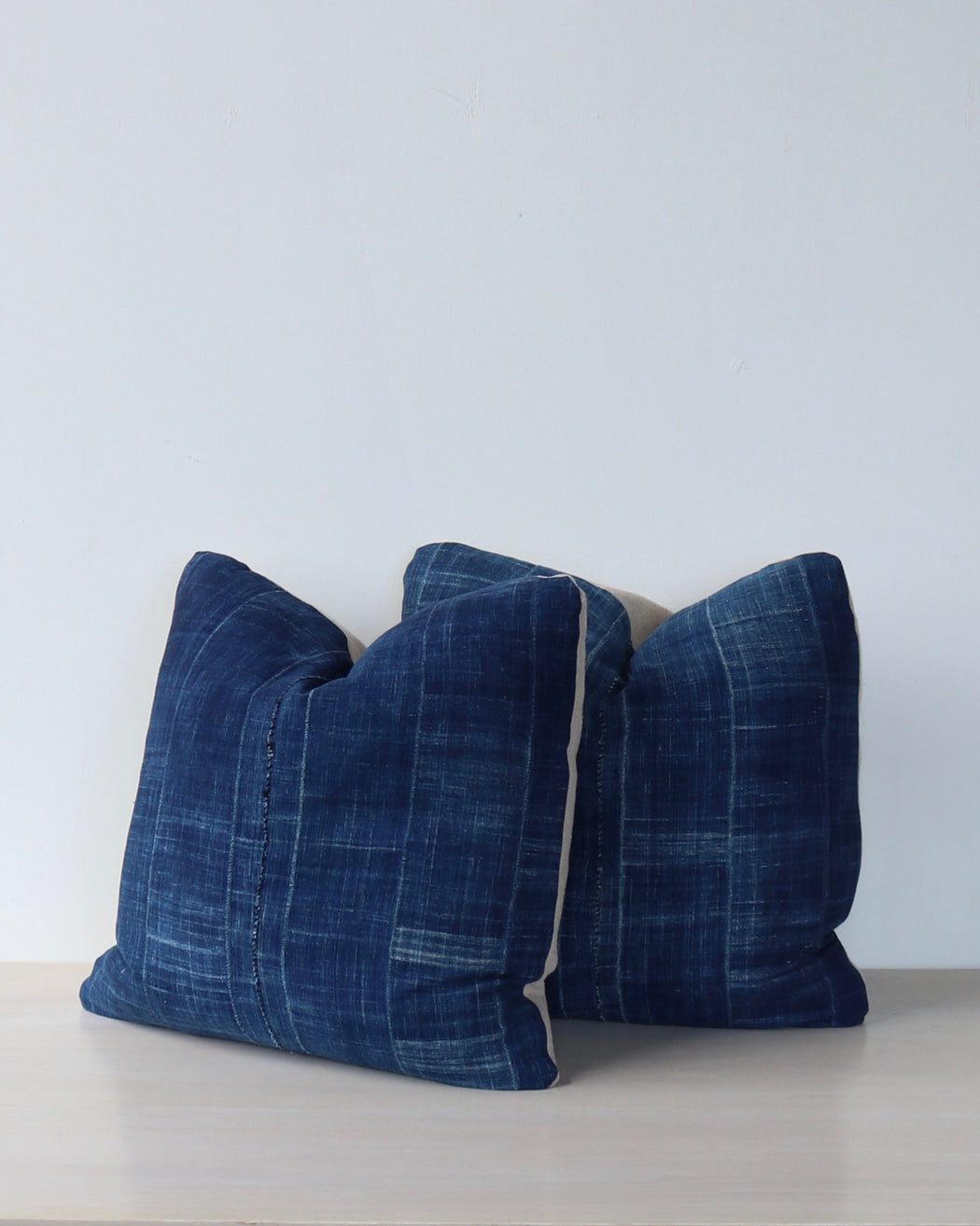 Dark Indigo Vintage Pillows - Pair No 9 - Decorative Accessories - Lostine