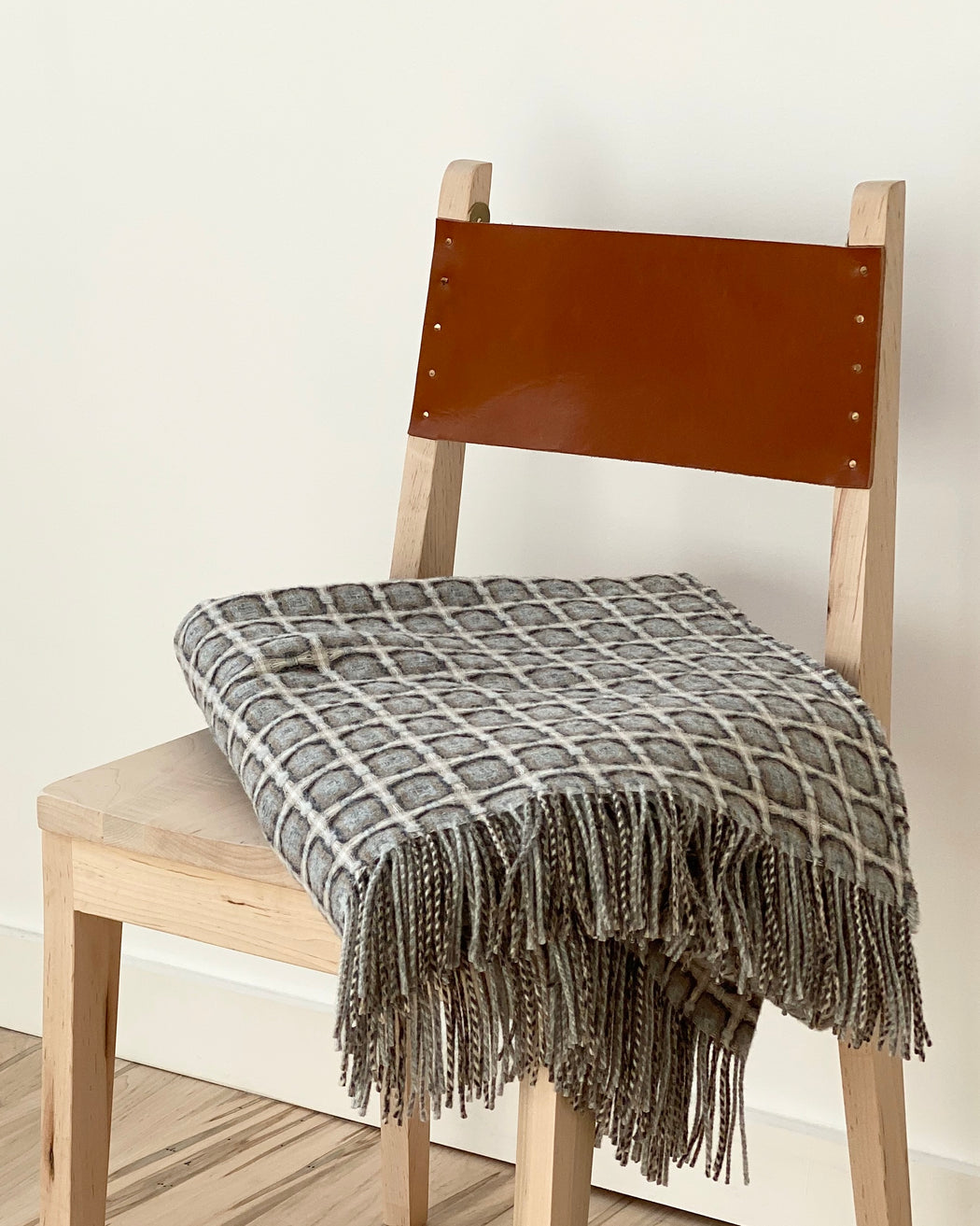 Basketweave Throw - Stone