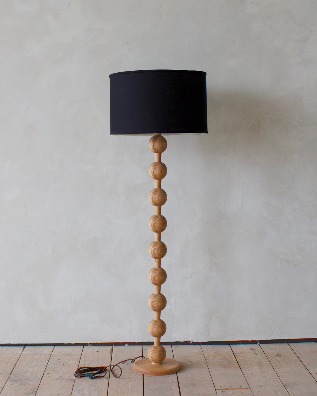 Hugo Barbell Wood Floor Lamp Lostine