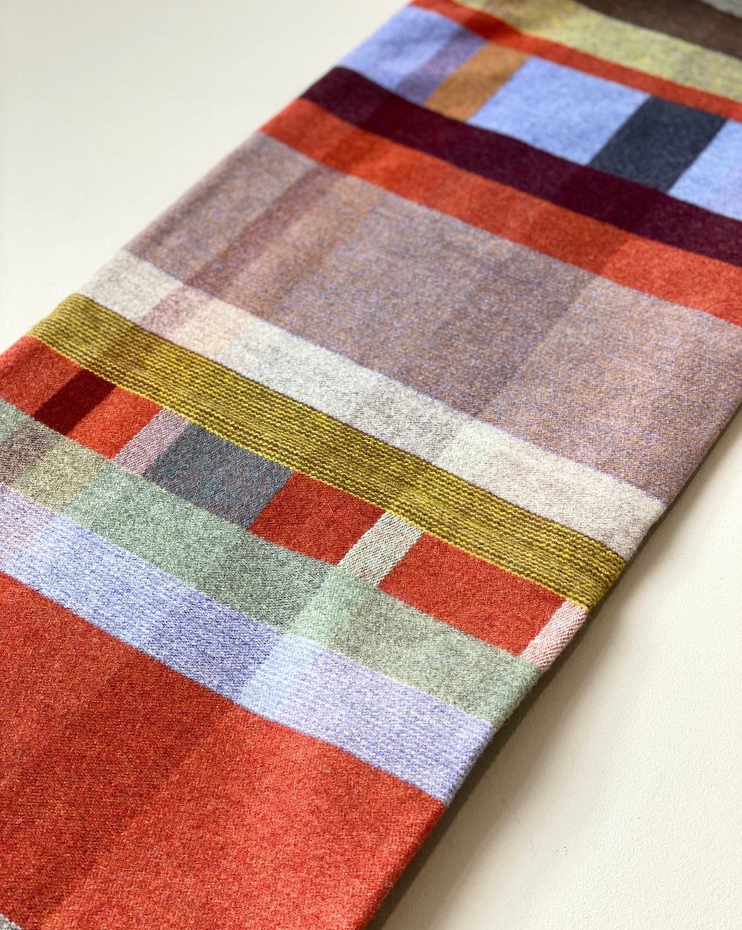 Lambswool Throw - Cecil Orange