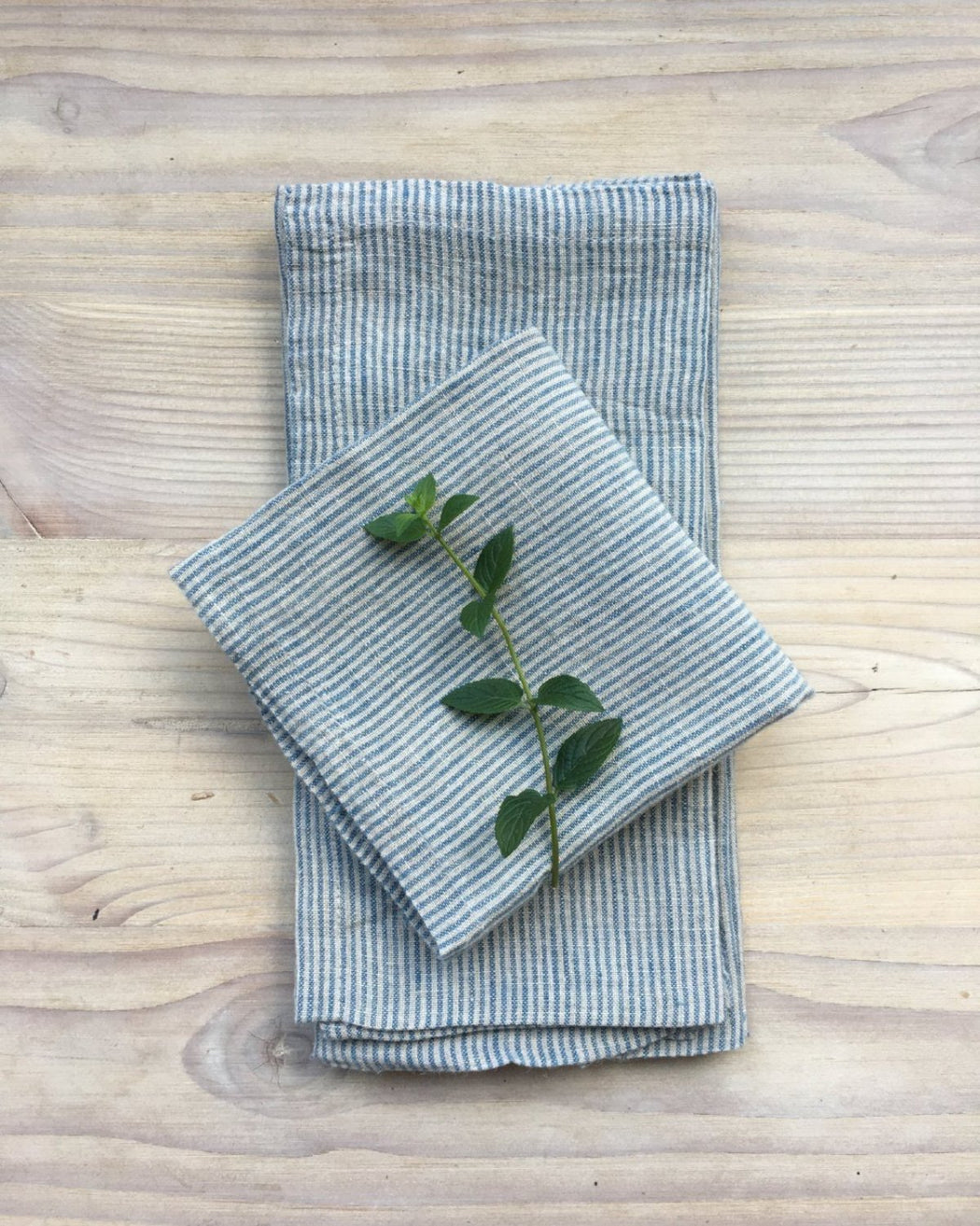 Pico Stripe Linen Napkins /  Set 4 - Kitchen - Lostine