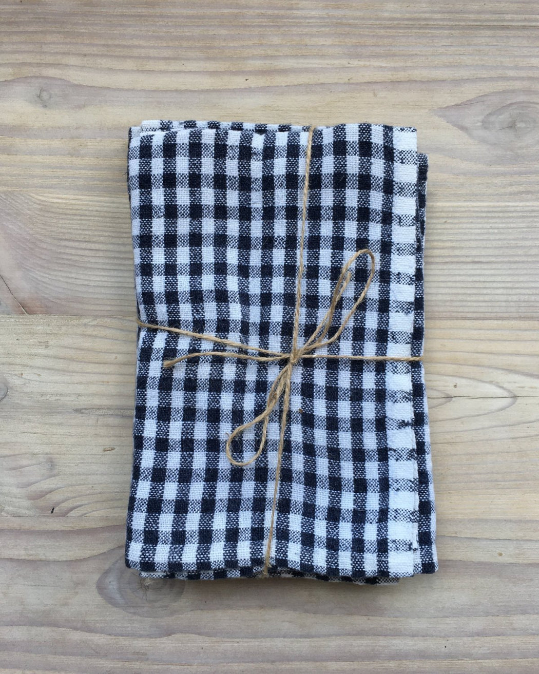 Gingham Blue/Ivory Napkins -  Set of 4