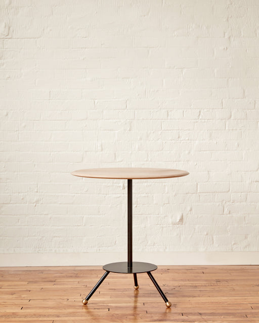 LOSTINE CALVIN CAFE TABLE WITH BLACK BASE