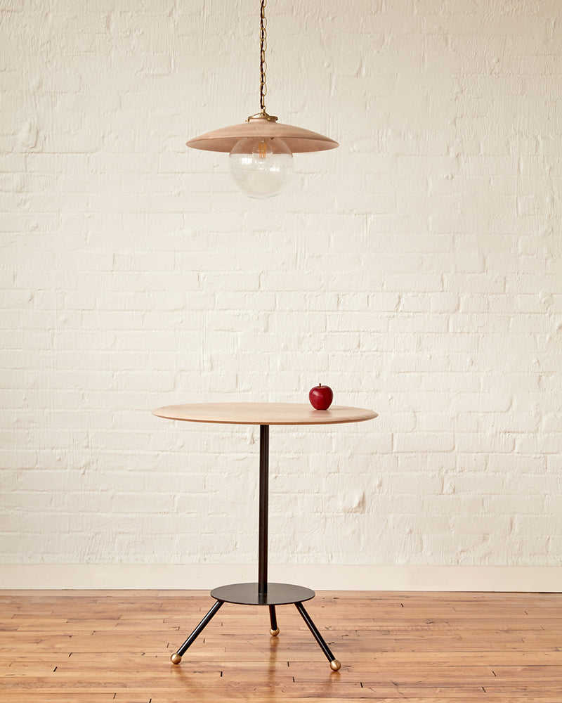 "LOSTINE CALVIN CAFE TABLE WITH APPLE AND 18"" CLEAR MAPLE EDMUND"