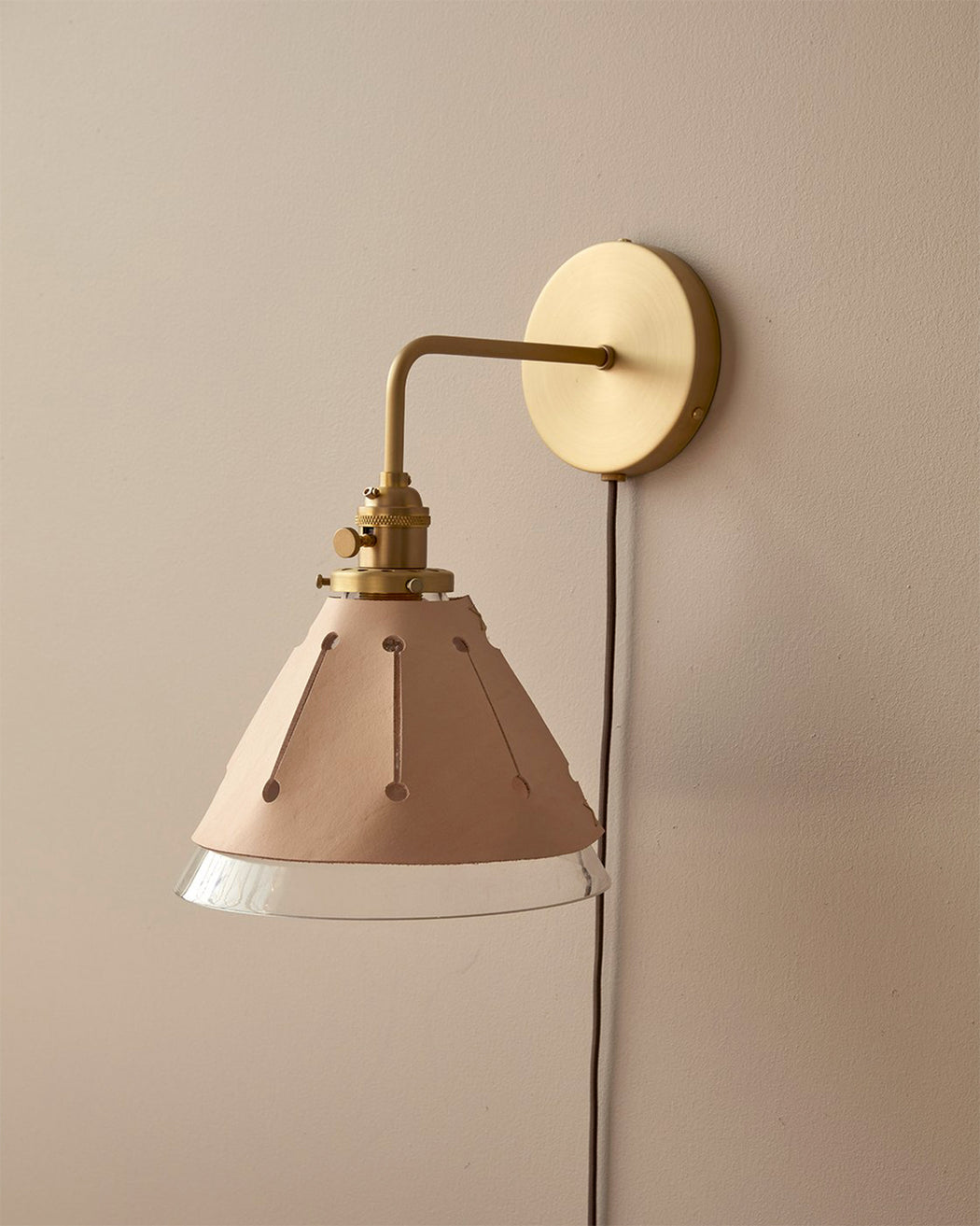 Plug Dot Sconce - Natural