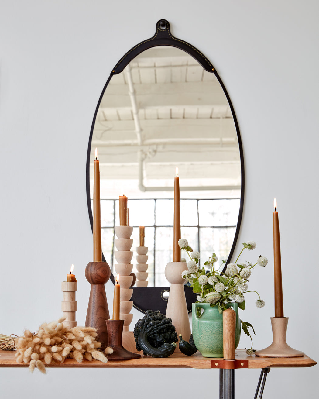 Fairmount Long Oval Mirror - Black