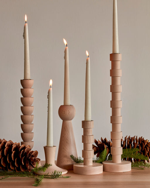 Gift Set of Maple Candle Holders