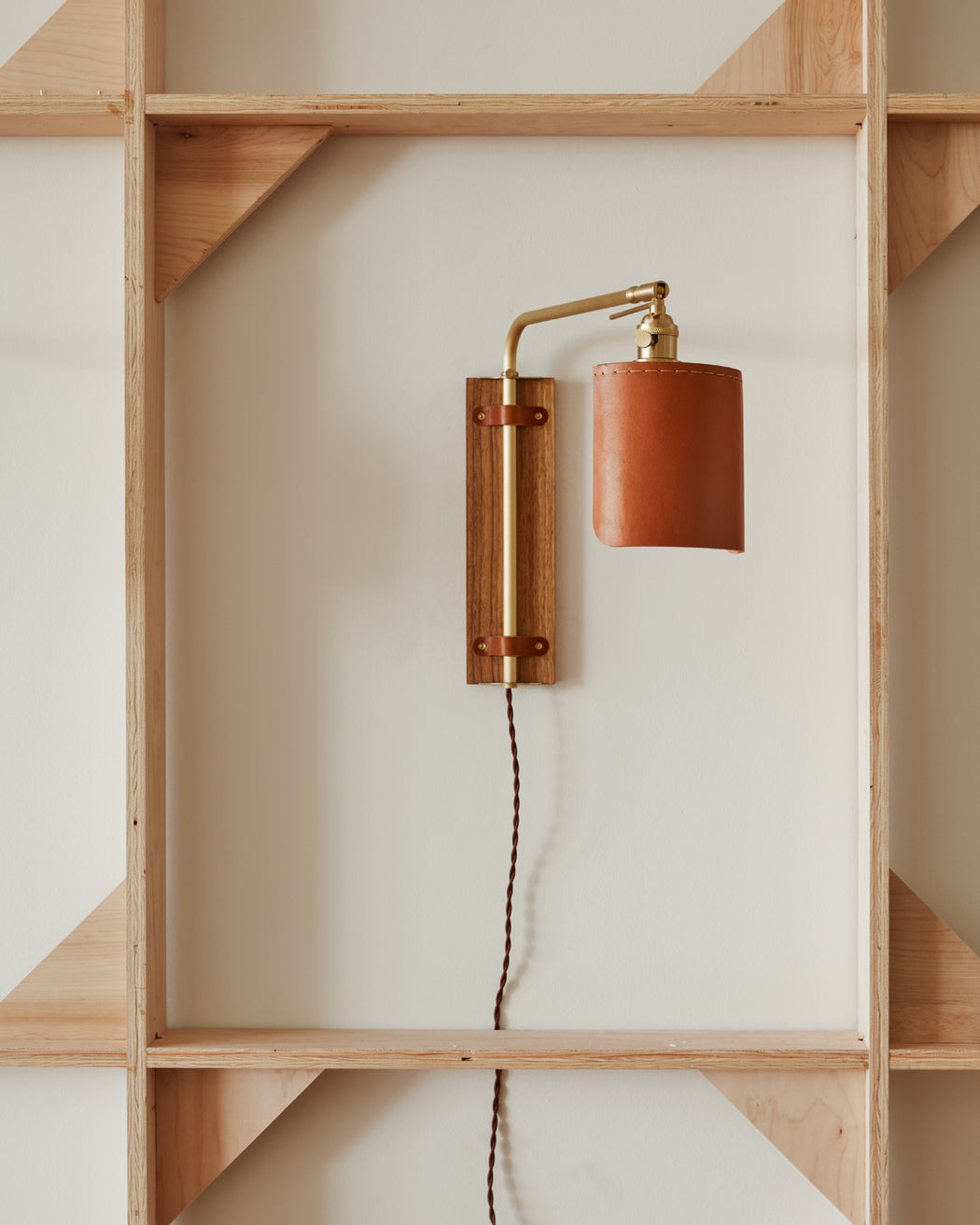 Ava Wall Sconce - Tan - Plug