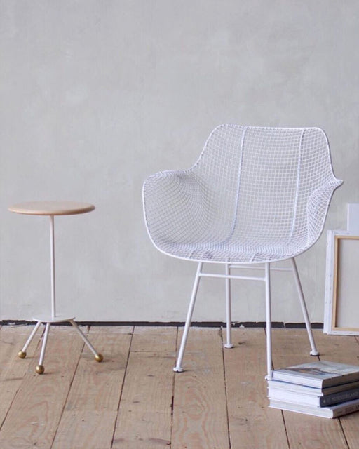 Biscayne Wire Armchair - White