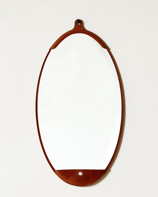 Lostine Fairmount leather long oval mirror usa