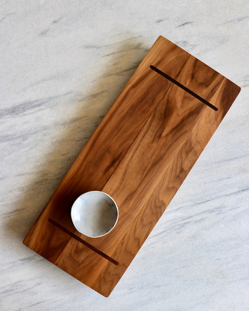 walnut serving tray large