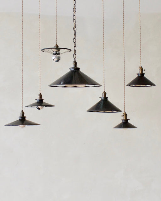 Mirrored Pendant Lights by Robert Ogden
