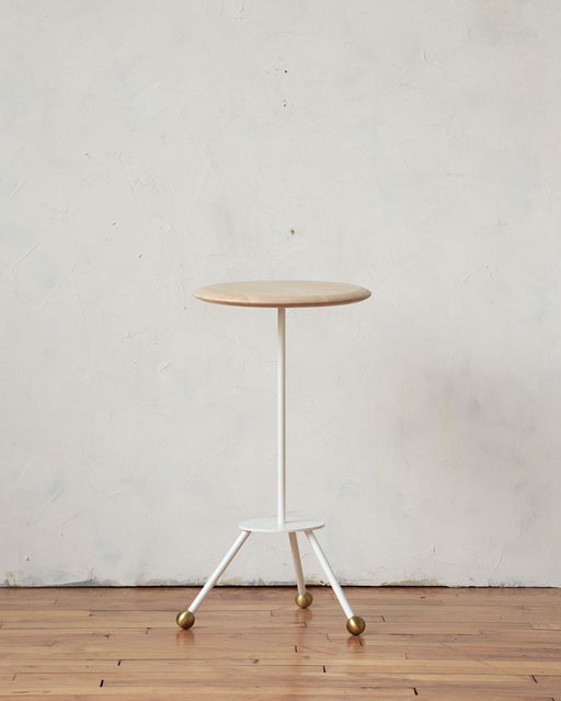 LOSTINE CALVIN SIDE TABLE WITH WHITE BASE