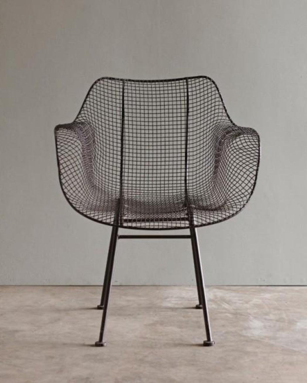 Biscayne  Wire Armchair Brown  Furniture  Lostine