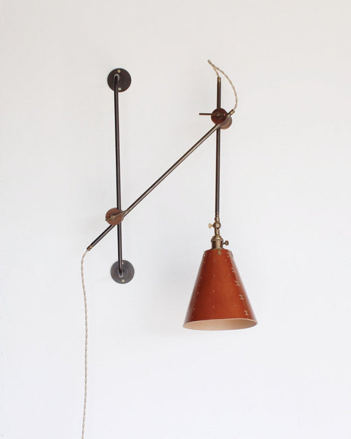 lostine grace leather and iron articulating wall lamp