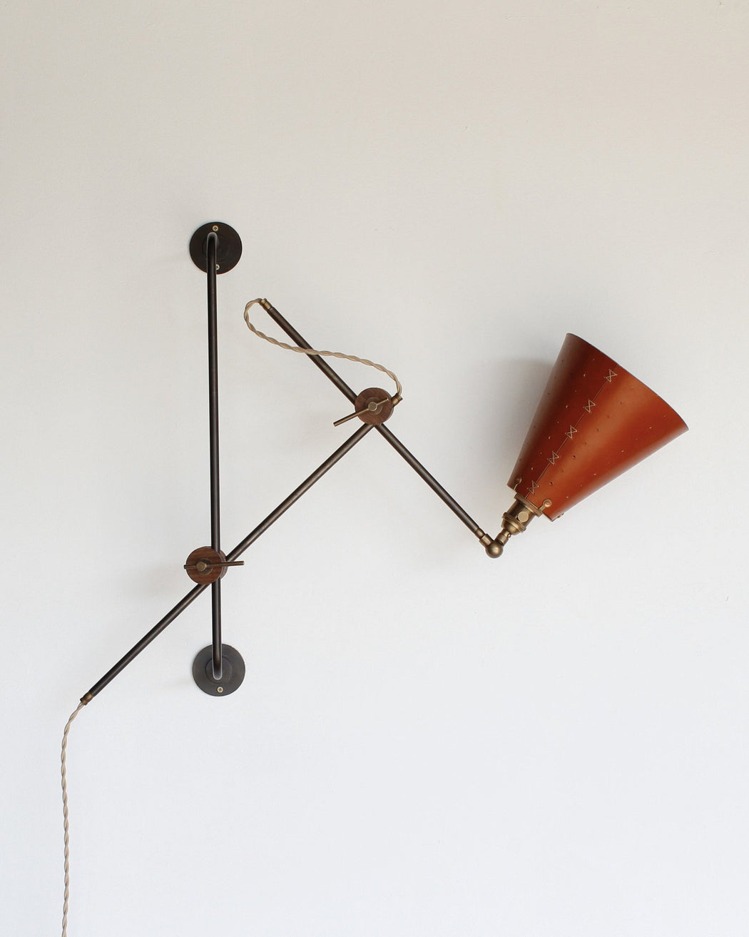 ... Lostine Grace Leather And Iron Adjustable Wall Lamp ...