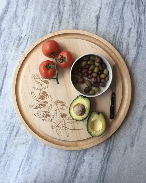 Awbury Round Cutting Board : Olives - Kitchen - Lostine