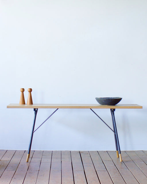 sawhorse console table