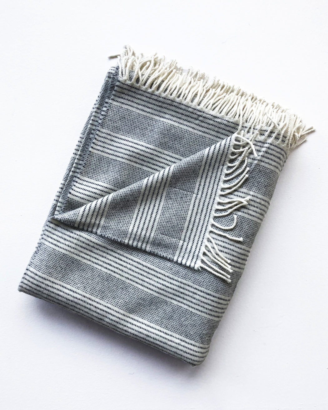 Grey Stripes Throw - Textiles - Lostine