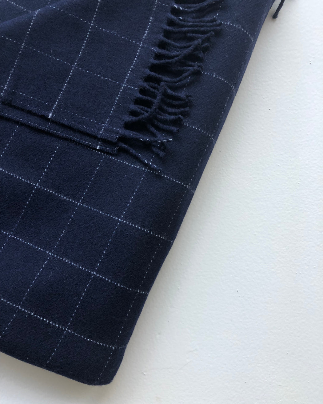 Windowpane Throw - Navy