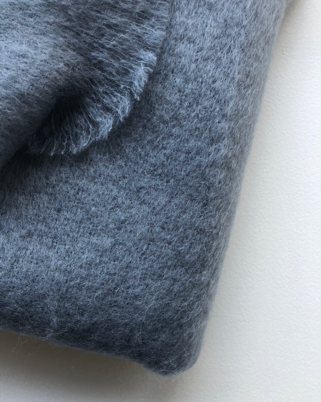 Mohair Throw - Slate Grey - Textiles - Lostine