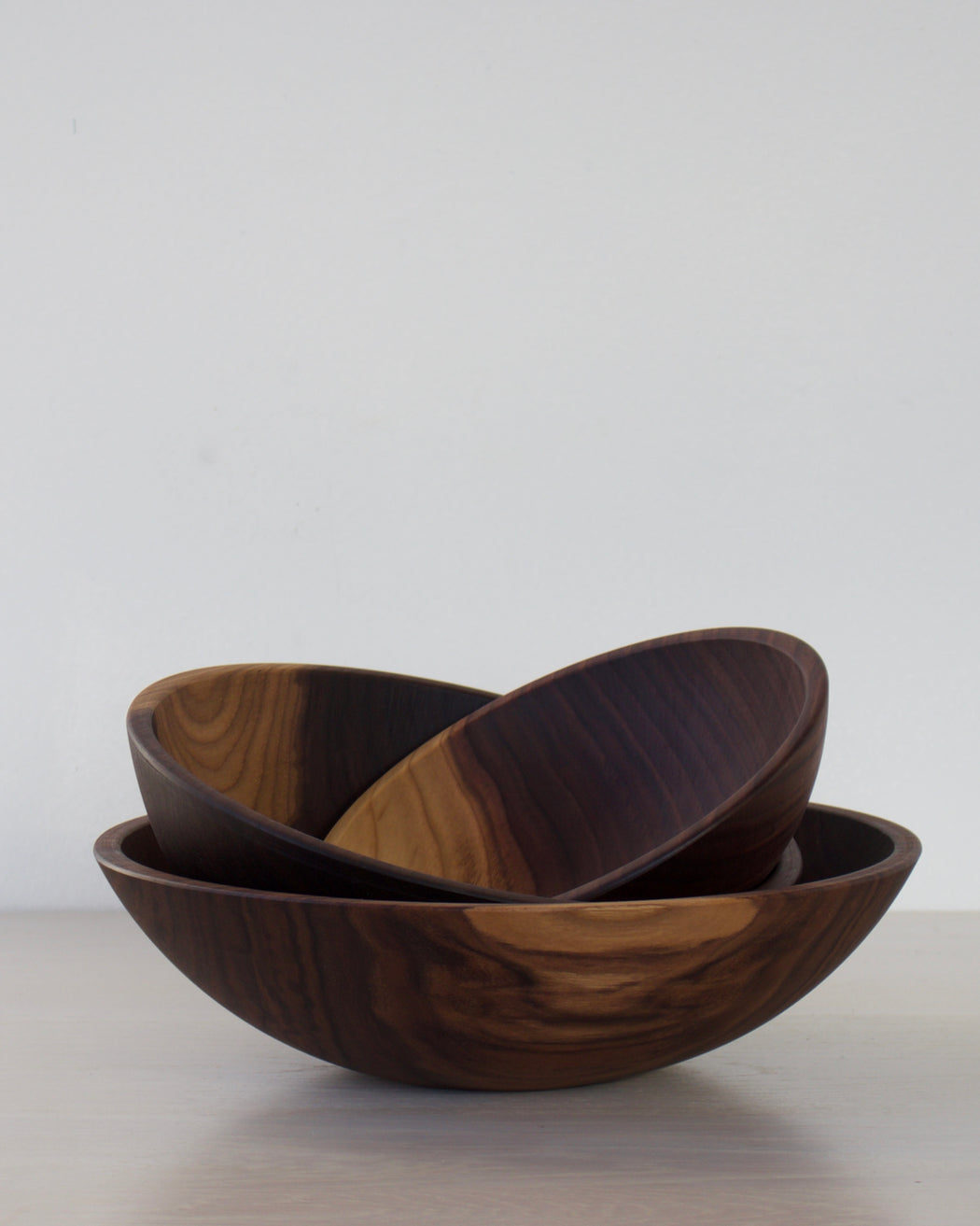 Set of 3 Nesting Bowls - Black Walnut