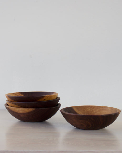 Set 4 wood bowls - black walnut