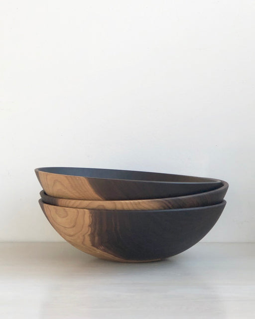 "Wood Serving Bowl - 15 "" Black Walnut"