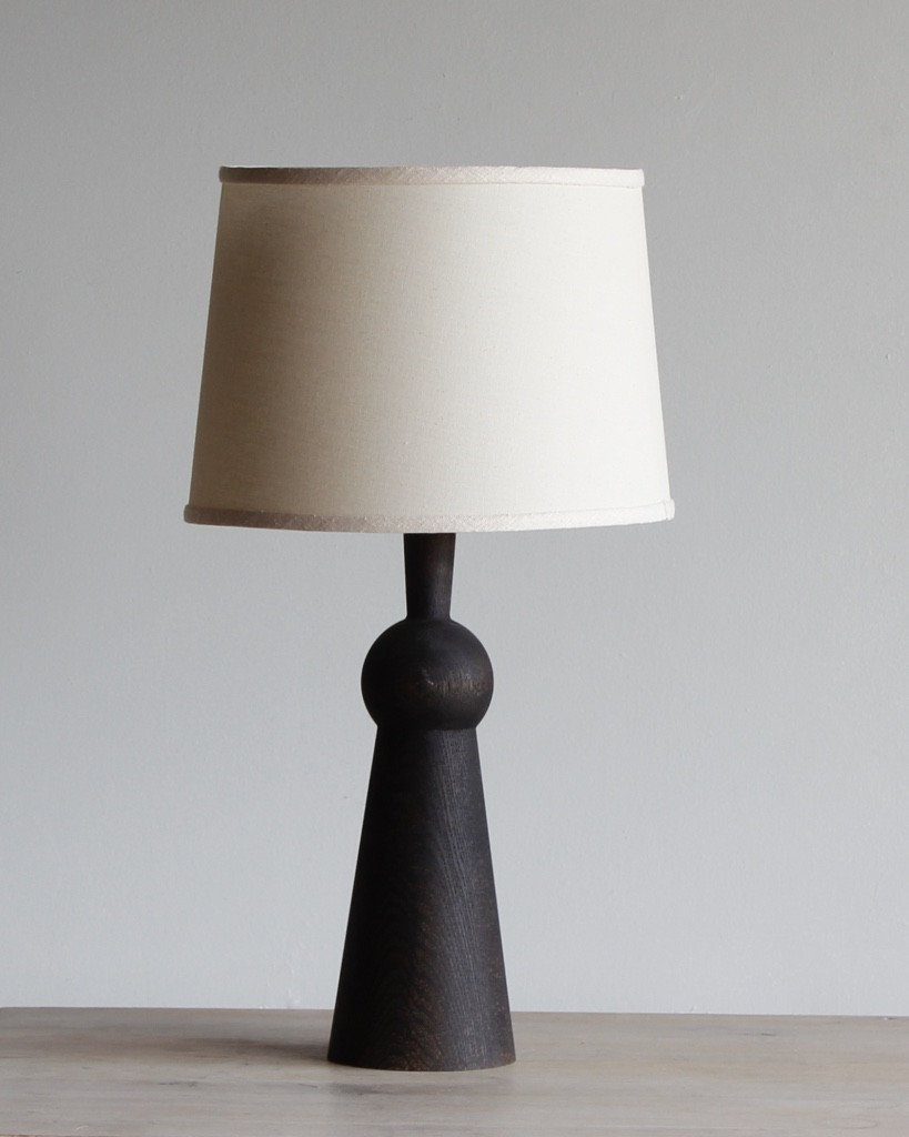 LOSTINE BELLA SKIRT TABLE LAMP WITH SHADE - DARKWASH