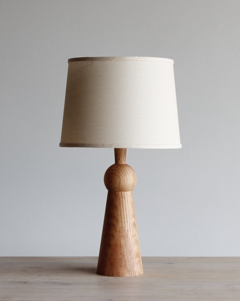LOSTINE BELLA SKIRT TABLE LAMP WITH SHADE - NATURAL