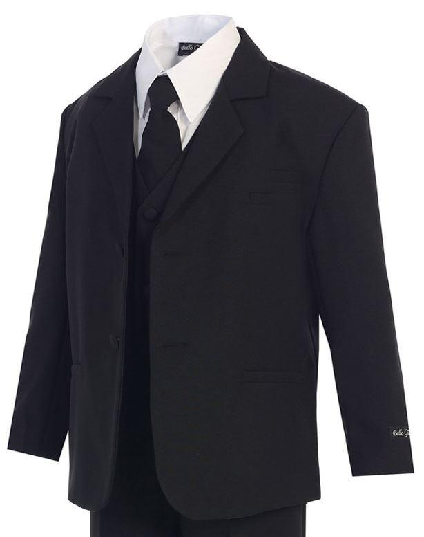 Boys Formal Classic Black Suit - Funeral - Malcolm Royce