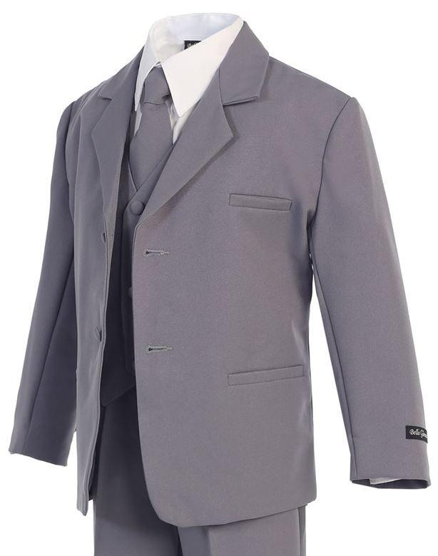 Boys Formal Classic Grey Suit - Malcolm Royce