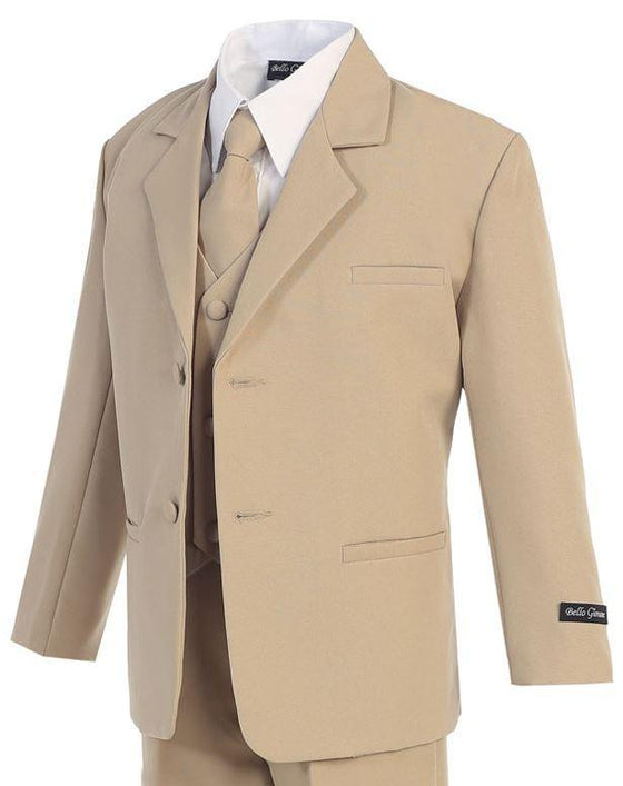 Classic Formal Boys Khaki Suit - New