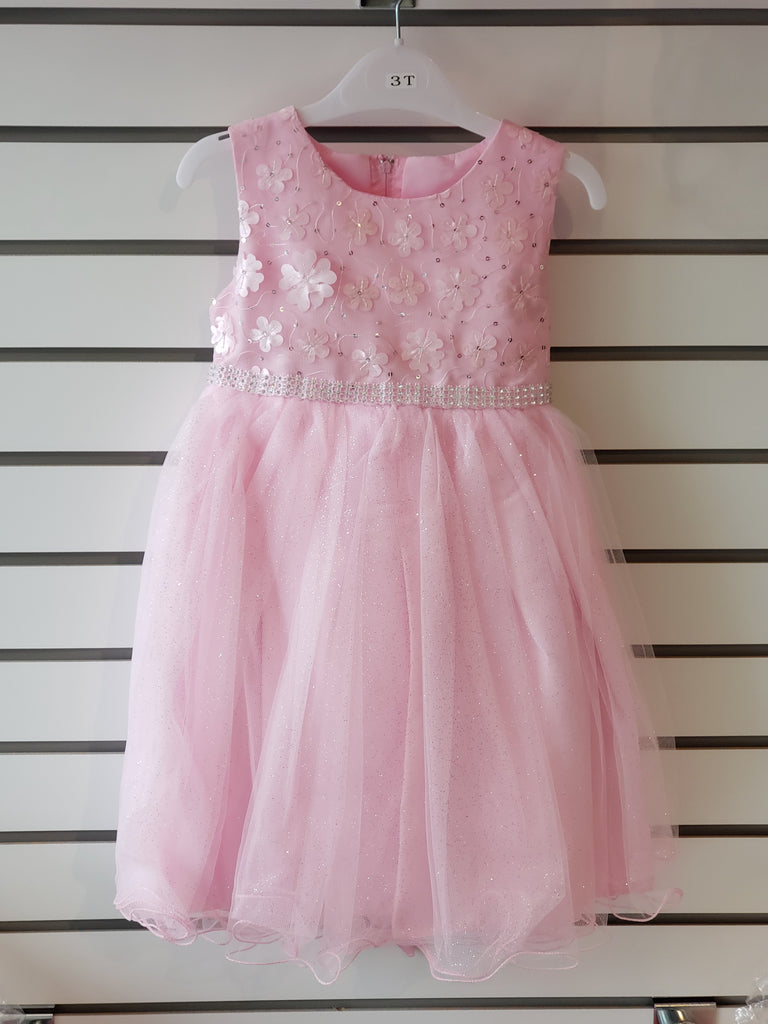 Toddler Girls' Pink Flower Print Dress (66-412T)