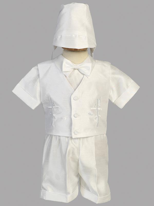 Baby Boys White Christening Baptism Outfit (8470) - Malcolm Royce