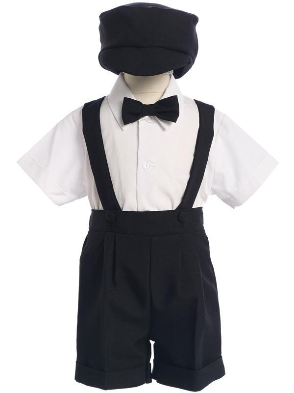Infants Black Shorts and Suspenders Outfit 850 - Malcolm Royce