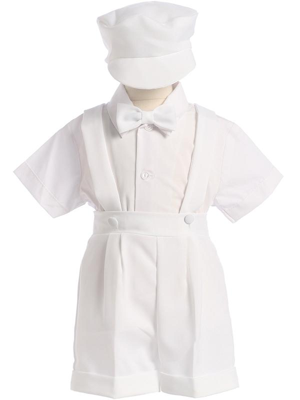 Infants White Shorts and Suspenders Outfit 850 - Malcolm Royce