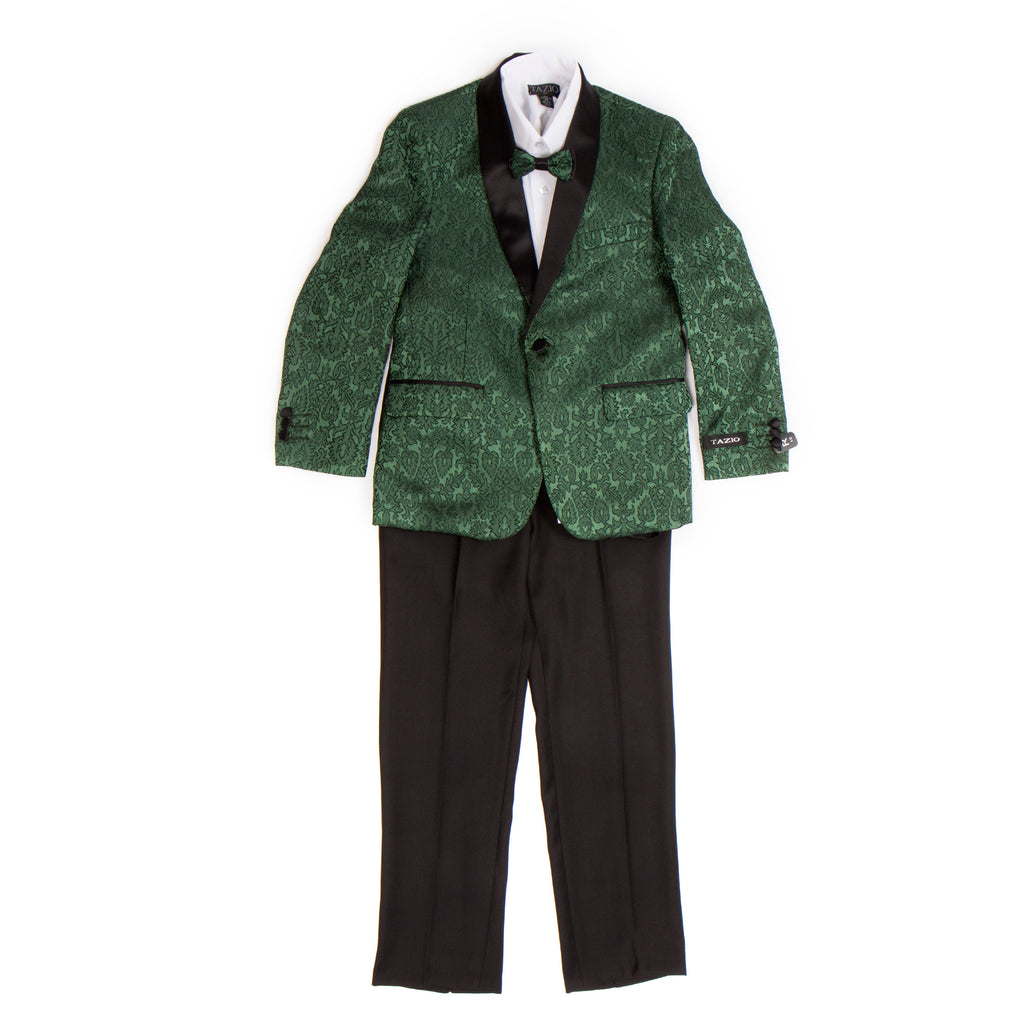 Tazio Green / Black Formal Suits For Boys - Malcolm Royce