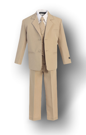 Khaki/Beige, Formal Boys Suit - Malcolm Royce