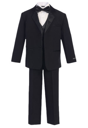 kids tuxedo in black for formal at formal events