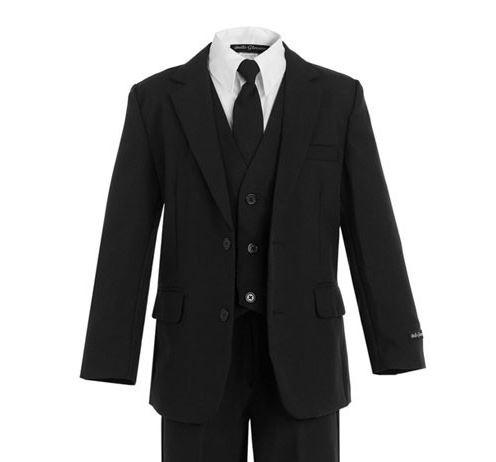 Boys Black Suit - Slimmer Fit