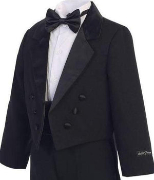 Boys Black Long Tail Tuxedo