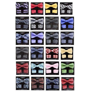 Boys Fancy Bow Tie and Hanky Set