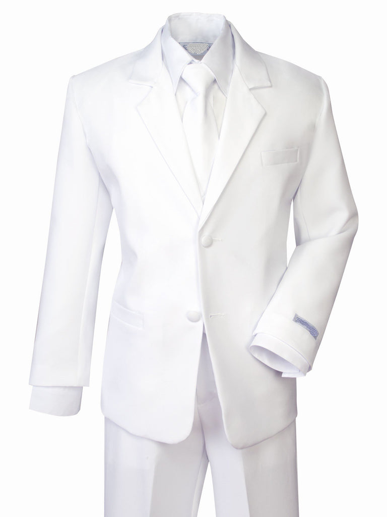 Boys Classic White Communion Suit - Sizes 18 & 20 - Malcolm Royce