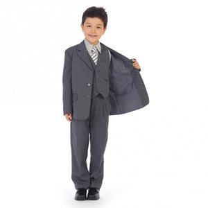 Grey w/ Pinstripe - Formal Boys Suit
