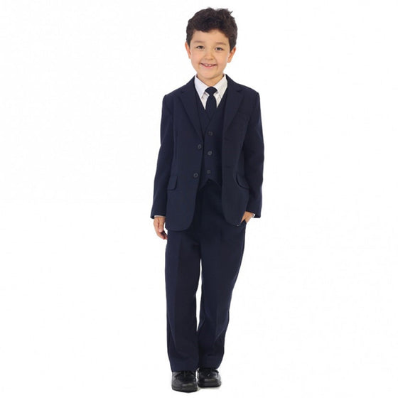 Boys Navy Suit - Slimmer Fit