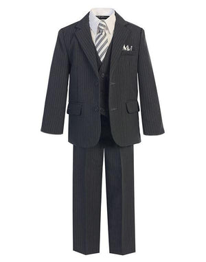 Charcoal Gray w/ Pinstripe - Formal Boys Suit