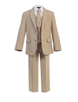 Boys khaki suit and jacket set
