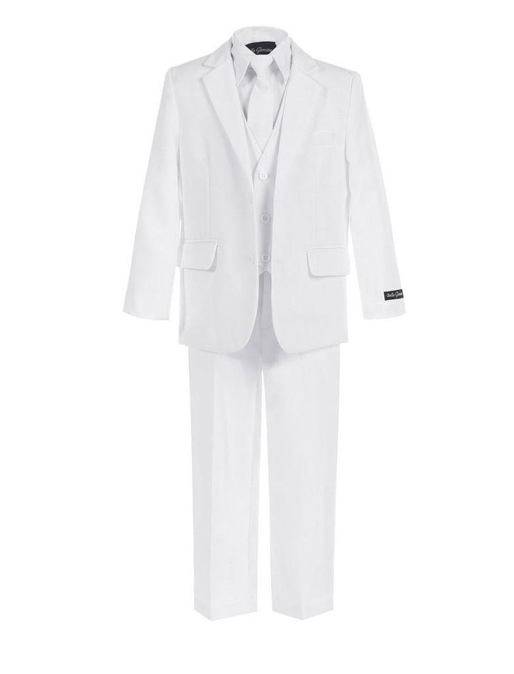 Boys White Suit - Slimmer Fit